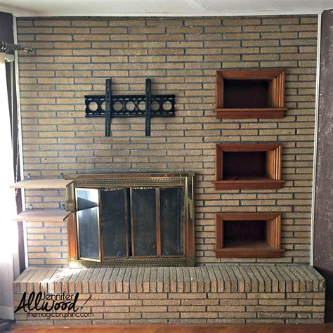 painted fireplace paint fireplace brick