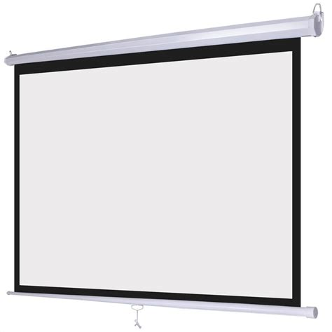 Screen Projector World Screen Motorized 70 pro 100 quot 1 1 ratio manual pull retractable projector screen home theatre ebay