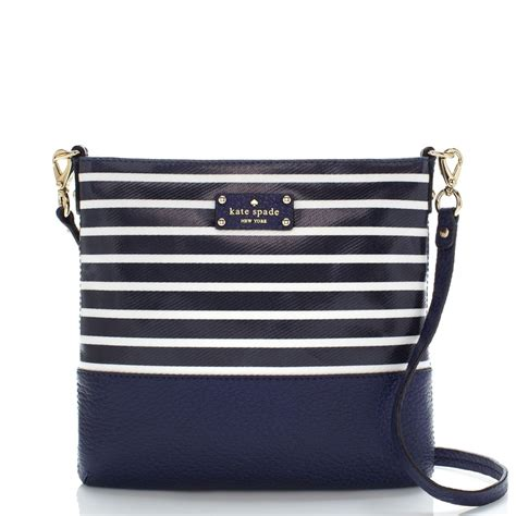 Corra Sling Bags Brown navy white stripes bags bags