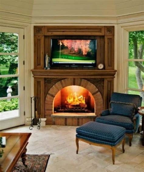 wood fireplace ideas 19 best corner fireplace ideas for your home