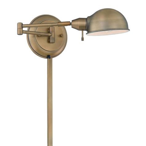 filament design 1 light antique brass swing arm wall