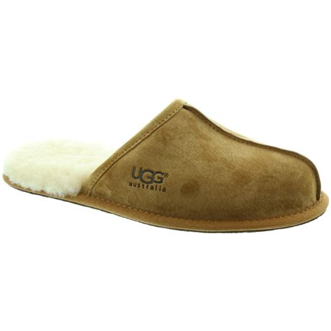 ugg house shoes men ugg australia scuff mens slippers in chestnut