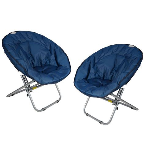 folding moon chair 2 x azuma padded folding outdoor cing festival garden