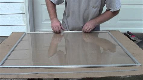 how to repair glass replacing storm window glass youtube