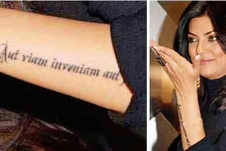 sushmita sen tattoo images sush makes a mark times of india