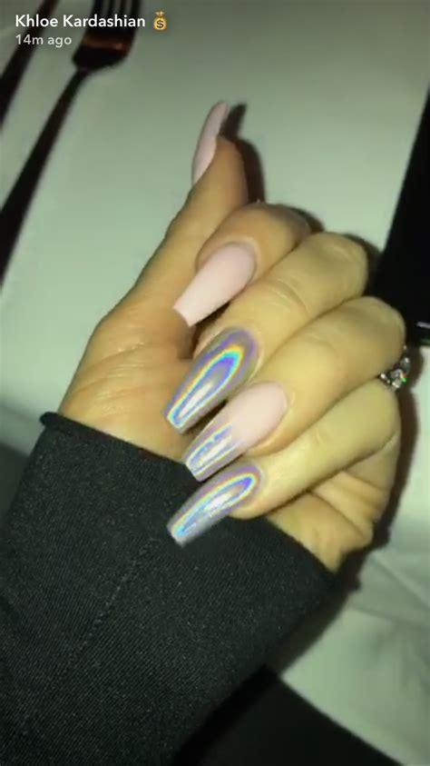 kim kardashian coffin nails holographic nails nails holographic holographicnails
