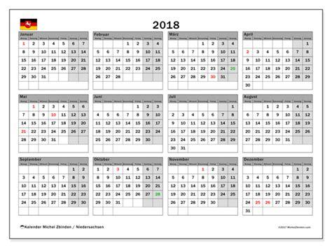 Kalender 2018 Niedersachsen Feiertage Kalender Zum Ausdrucken 2018 Feiertage In Niedersachsen