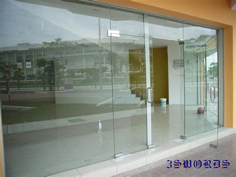 glass shop door tempered glass door and frameless fixed panel shop front