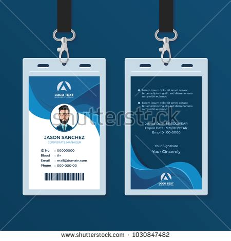 corporate id card template corporate id card design template stock vector 1030847482