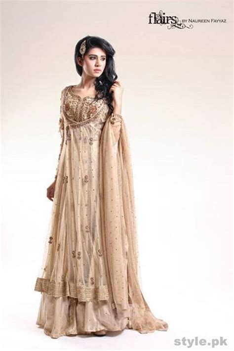 Naureen Dress flairs formal wear dresses 2015 by naureen fayyaz style pk