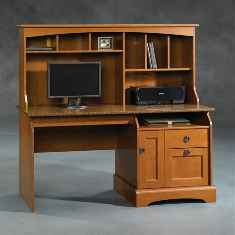 Computer Desks With Hutch Sauder 408951 Graham Hill Computer Desk With Hutch Atg Stores