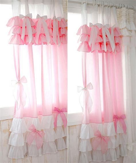 ruffled curtains pink cinderella pink ruffle curtain ruffles curtains and pink