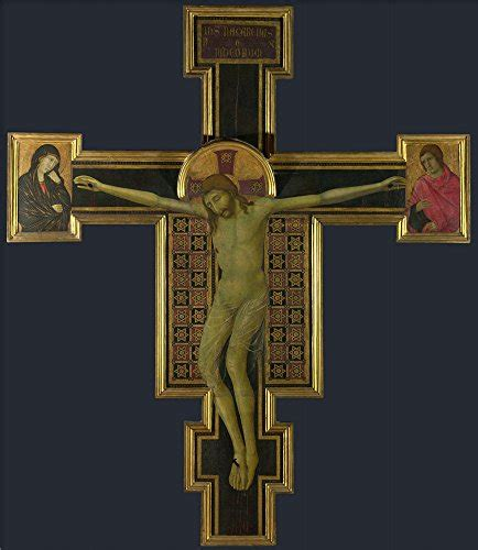oil painting crucifix 14th century 12 x 14 inch 30 x