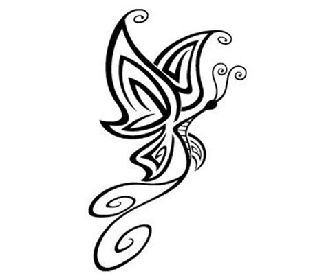 butterfly tattoo lines line drawing of a butterfly clipart best