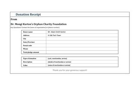 tax receipt for donation template canada goodwill receipt for taxes size of spreadsheet