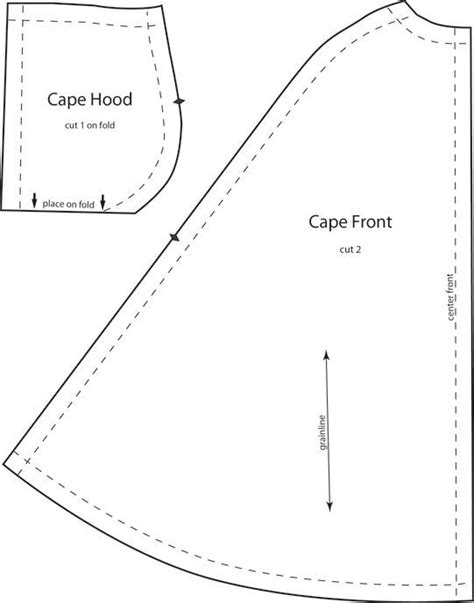best 25 cloak pattern ideas on pinterest hood pattern