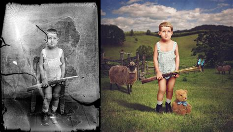 imagenes surrealistas antiguas jane long colorizes old photos and adds a surreal twist to