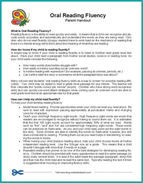 Parent Letter Reading Strategies 18419 best images about top tips freebies on