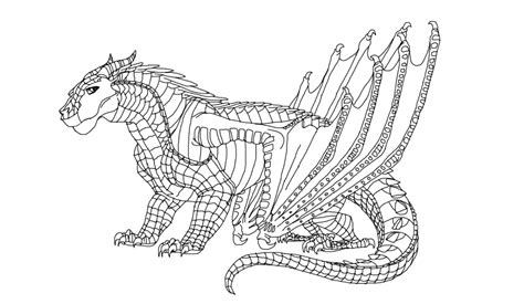 sandwing wings of fire coloring pages sketch coloring page