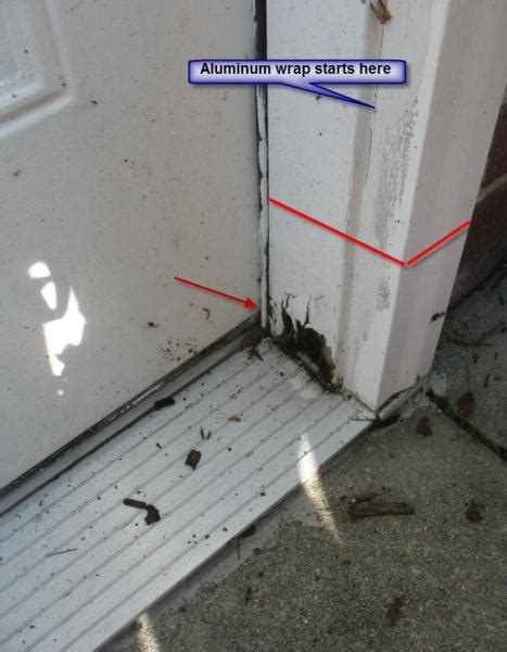 parts of an exterior door frame reparing wood rot on exterior door and frame suggestions