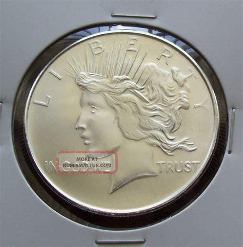 1 Oz Design Silver 999 by Peace Dollar Eagle Design 1 Troy Oz 999 Silver