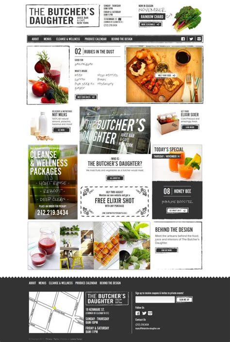 html5 layout inspiration the butchers daughter juice bar and cafe html5