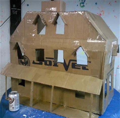 How To Make A Paper Mache House - mill pond fright building a haunted doll house