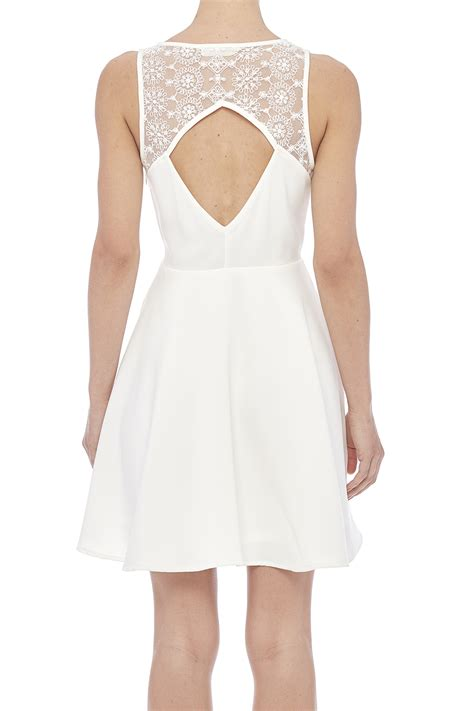 sugarlips white swan dress from buffalo by bebe mills