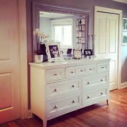dresser with mismatched mirror for the home