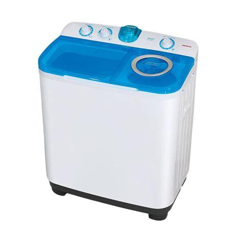 Mesin Cuci Merk Sanken 7 Kg jual sanken tw9880 mesin cuci biru 2 tabung 8 kg
