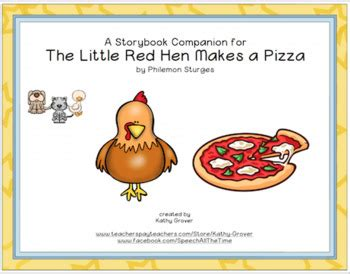makes a pizza sequencing cards the hen makes a pizza a storybook companion tpt