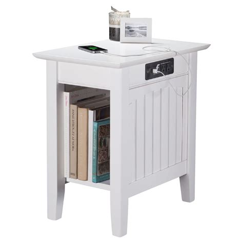charging station table nantucket chair side table rectangular charging station