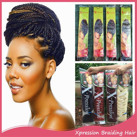 expression hair for braids what is the cost xpressions braiding hair 165g 82inch box braids hair