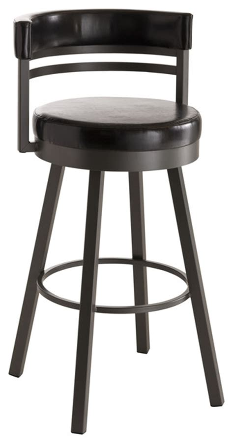 counter height swivel bar stools with backs amisco ronny upholstered back swivel stool 41442 26
