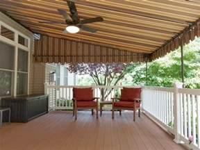 Sunbrella Canopy by Mocha Striped Sunbrella Deck Canopy Kreider S Canvas