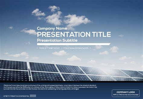 solar energy powerpoint template solar panels powerpoint