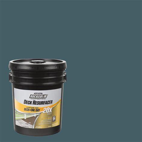 rust oleum rocksolid  gal cobalt exterior  deck