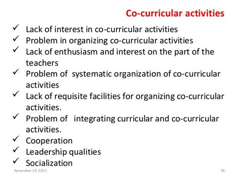 research paper on co curricular activities research in education