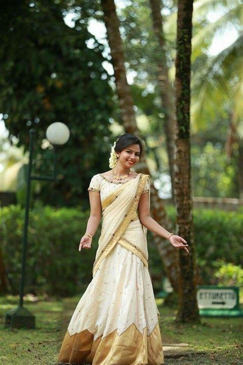 Best 20  Kerala saree ideas on Pinterest   White saree