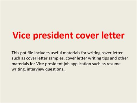 assistant vice president cover letter sample livecareer