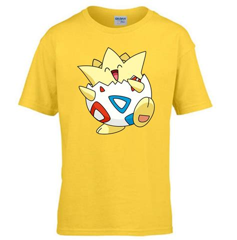 Tshirt Anime Boy Clothing children tees togepi 2016 go t shirt boys and