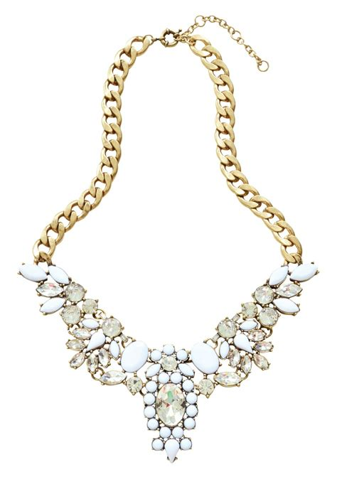 snow white statement necklace happiness boutique