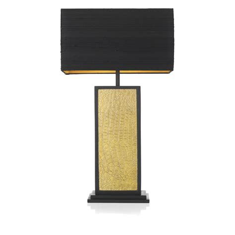 Black And Gold L Shade Uk by Crocodile Pattern Black Gold Table L Square Base