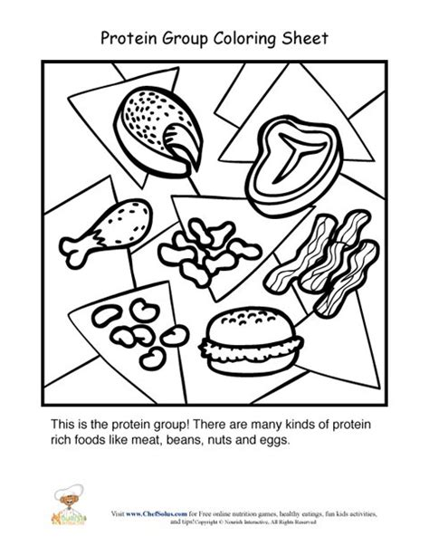 Protein Food Group Coloring Sheet Food Groups Coloring Pages