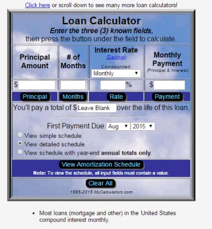 28 tables to calculate loan amortization schedule excel