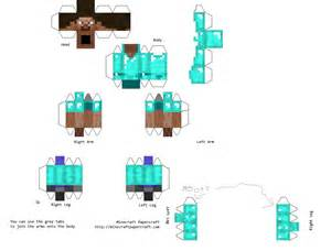 Minecraft Steve Paper Template by Papercraft Steve With Armour