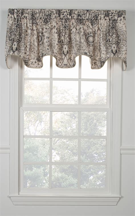 Scalloped Valance Curtains Cadogen Lined Scalloped Valance Ellis Kitchen Valances