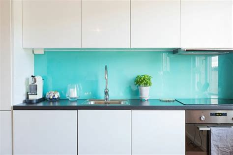 glass wall kitchen kitchen rear wall from glass the modern tile mirror looks so out of fresh design pedia