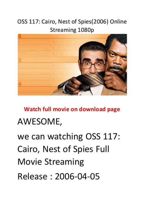 film action comedy hollywood oss 117 cairo nest of spies 2006 online streaming 1080p