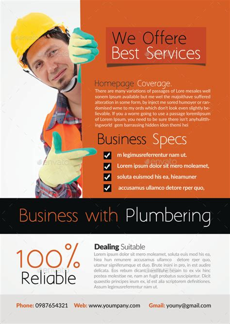 24 Beautiful Handyman Flyer Templates Sle Templates Handyman Ad Template